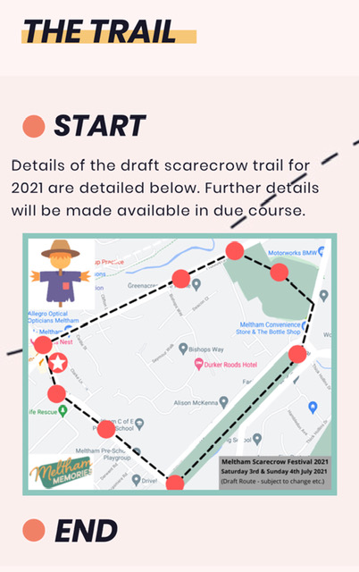Meltham Scarecrow Trail Map